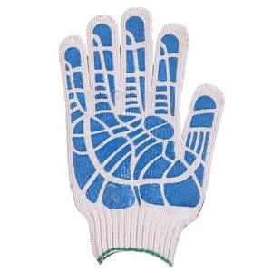 Перчатки ХБ 10 класс 5 нитка с ПВХ (линия)