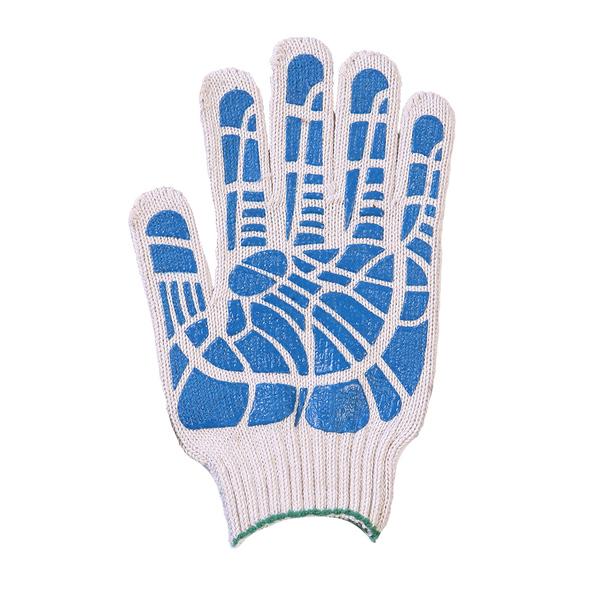 Перчатки ХБ 7,5 класса 8 нитка с ПВХ (линия) фото