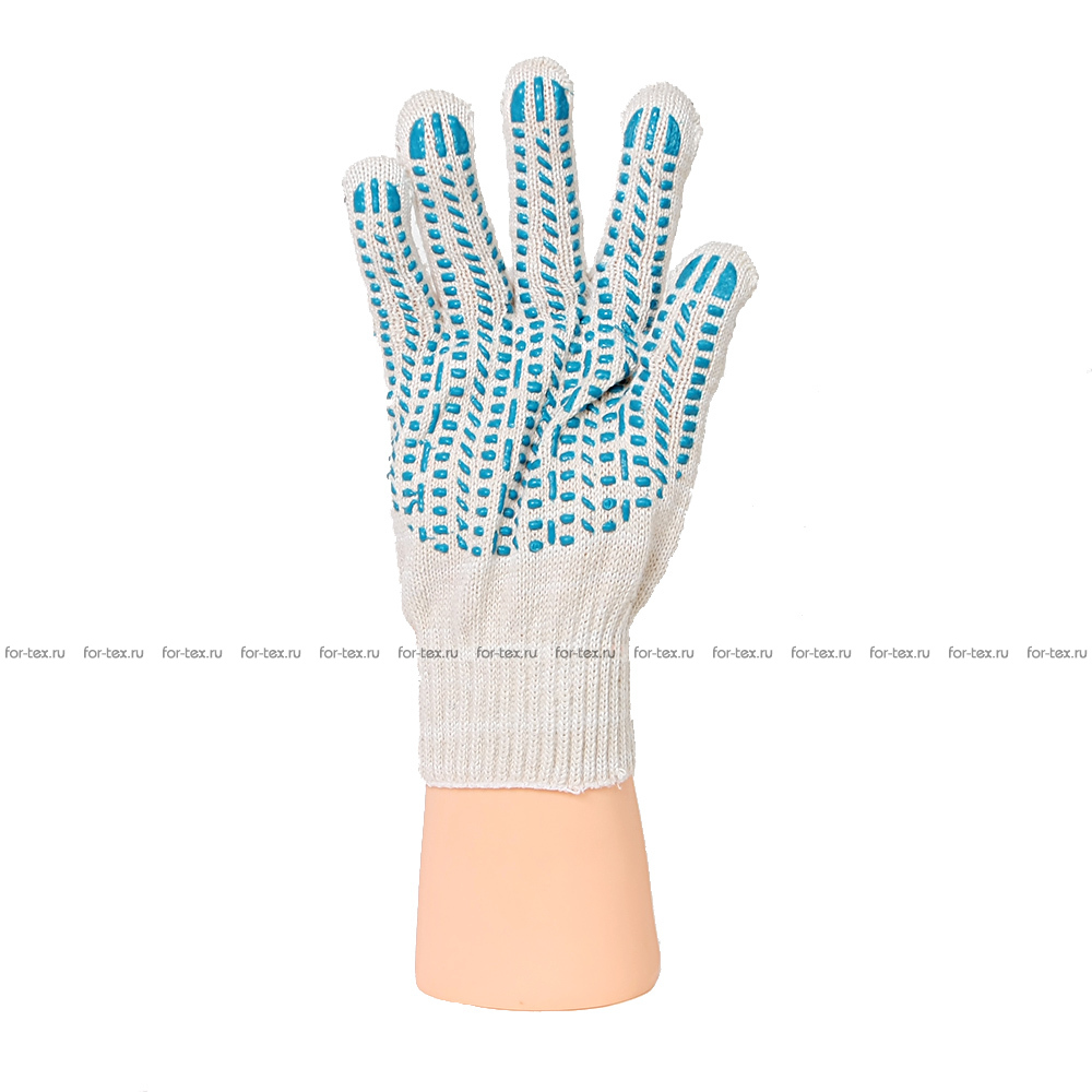 Перчатки ХБ 7,5 класса 8 нитка с ПВХ (протектор) фото