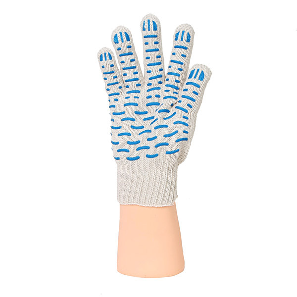 Перчатки ХБ 7,5 класса 8 нитка с ПВХ (волна) фото