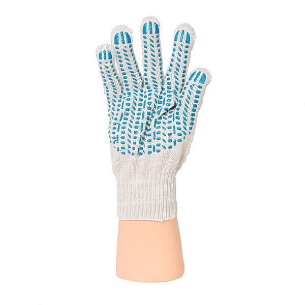 Перчатки ХБ 7,5 класса 9 нитка с ПВХ (протектор) фото