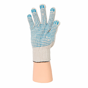 Перчатки ХБ 7,5 класса 9 нитка с ПВХ (точка)