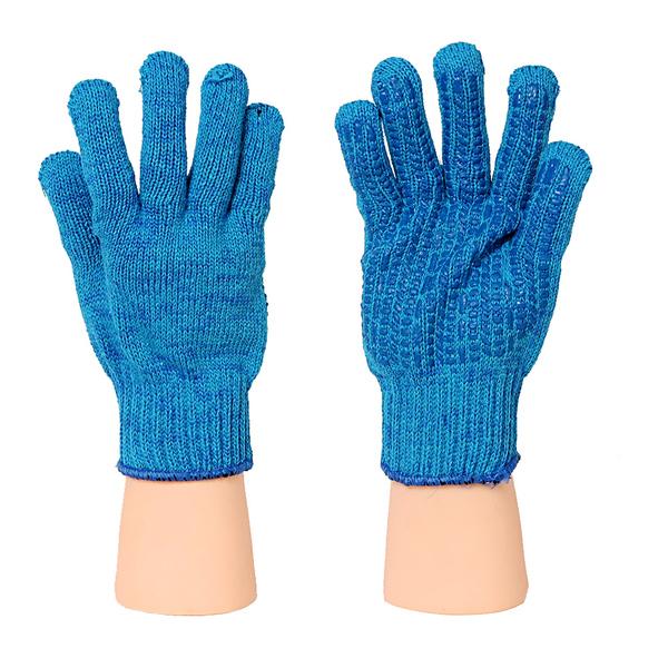 Перчатки ХБ 7,5 класс КОСМОС (СИНИЙ) Протектор СИНИЙ фото