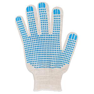 Перчатки ХБ 10 класс 5 нитка с ПВХ (точка) люкс
