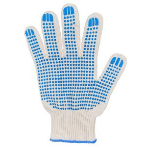 Перчатки ХБ 10 класс 6 нитка с ПВХ (точка)