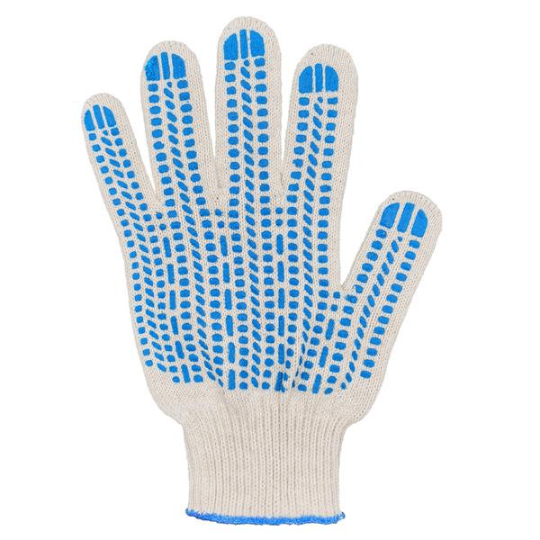 Перчатки ХБ 10 класс 6 нитка с ПВХ (протектор) фото