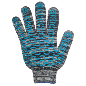 Перчатки ХБ 7,5 класса 6 нитка с ПВХ (волна)