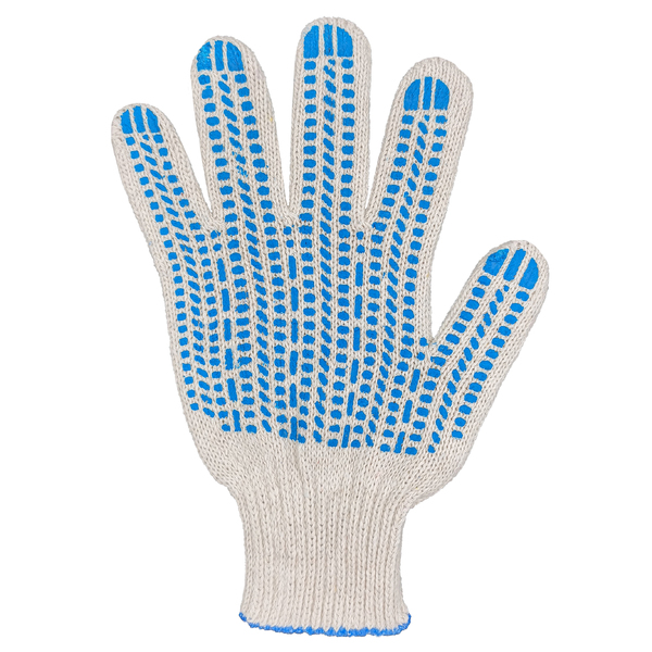 Перчатки ХБ 7,5 класса 6 нитка с ПВХ (протектор) фото