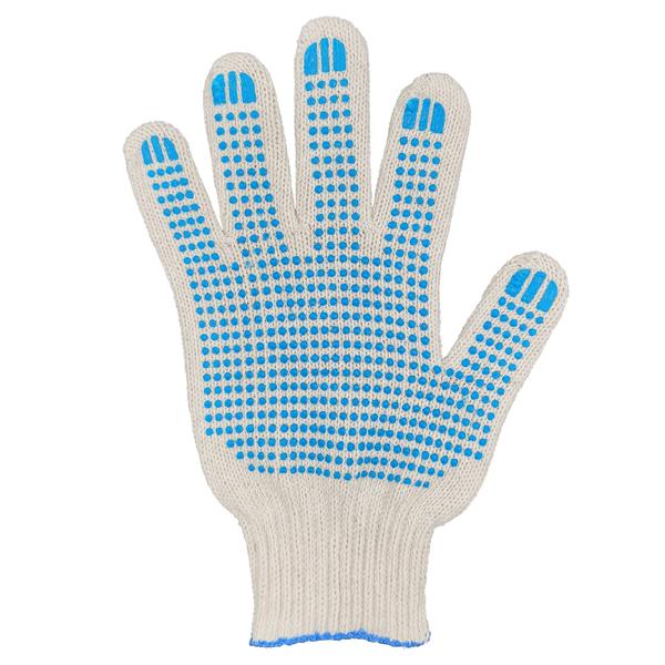Перчатки ХБ 7,5 класса 6 нитка с ПВХ (точка) фото