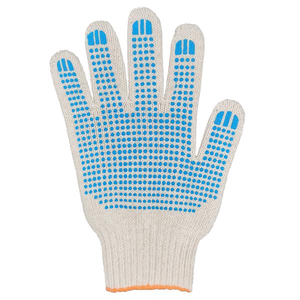 Перчатки ХБ 7,5 класса 7 нитка с ПВХ (точка) фото