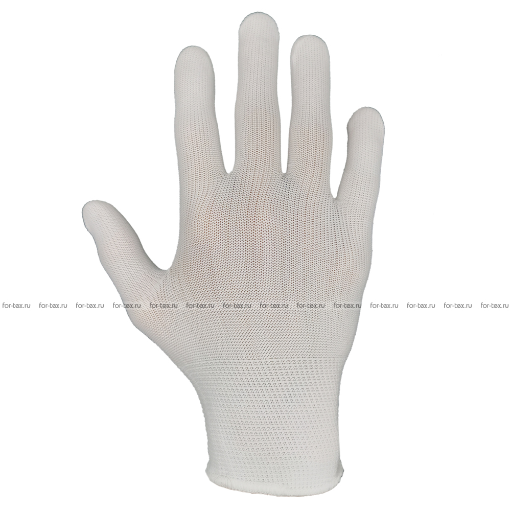Перчатки нейлоновые без покрытия Белые фото