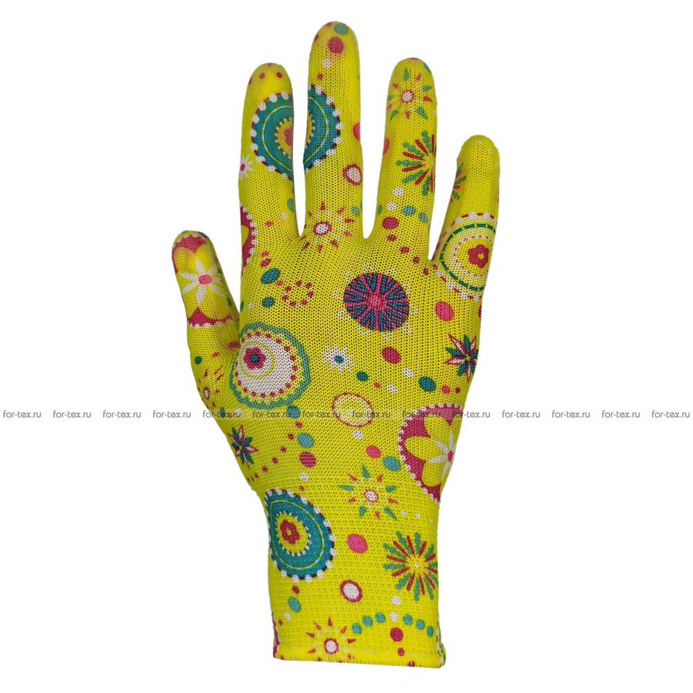 Перчатки нейлоновые садовые фото