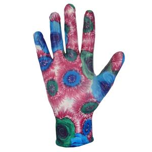 Перчатки нейлоновые садовые с ПУ покрытием