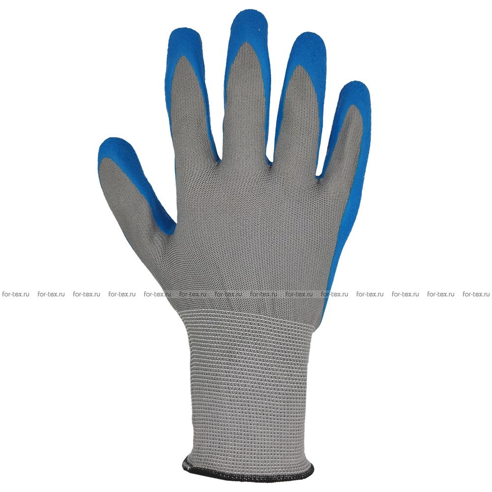 Перчатки нейлоновые со вспененным латексным покрытием фото