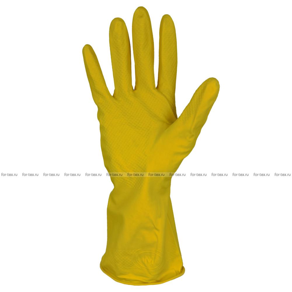 Перчатки хозяйственные с ворсовой подложкой фото