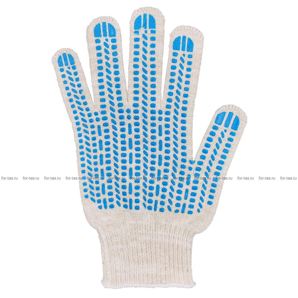Перчатки ХБ 10 класс 5 нитка с ПВХ (протектор) люкс фото