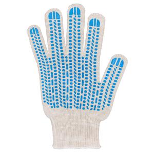 Перчатки ХБ 10 класс 5 нитка с ПВХ (протектор) люкс