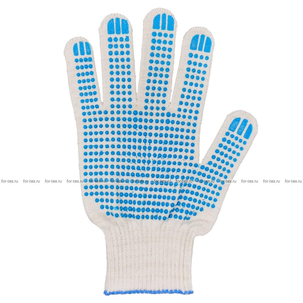 Перчатки ХБ 13 класс с ПВХ Точка фото