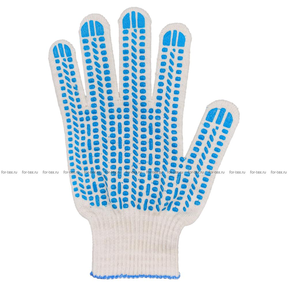Перчатки ХБ 13 класс с ПВХ Протектор фото