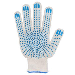 Перчатки ХБ 10 класс 3 нитка с ПВХ (точка) эконом