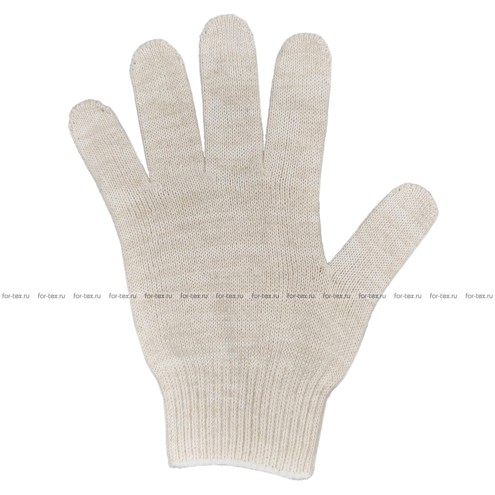 Перчатки ХБ 10 класс 5 нитка (без ПВХ) люкс фото