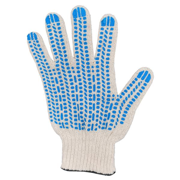 Перчатки ХБ 7,5 класса 4 нитка с ПВХ (протектор) фото