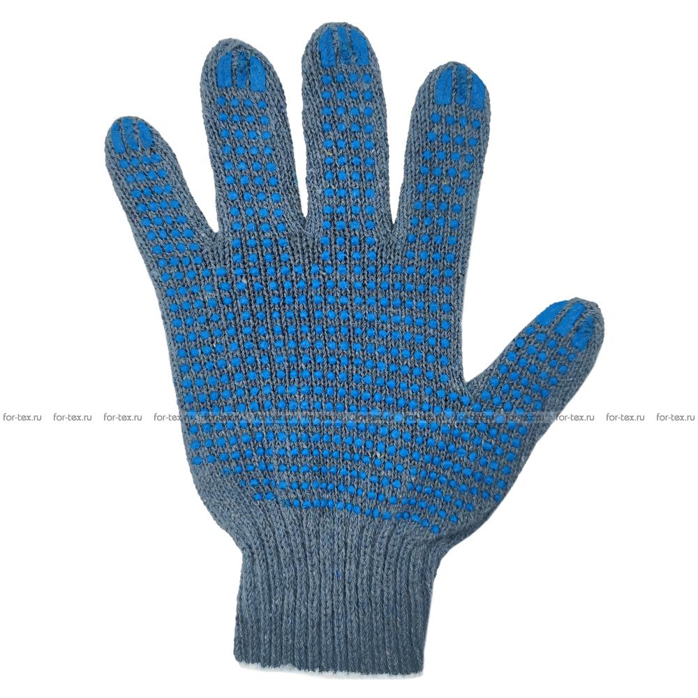 Перчатки ХБ 7,5 класса 5 нитка с ПВХ (точка) фото