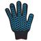 Перчатки ХБ 7,5 класса 7 нитка с ПВХ (волна)