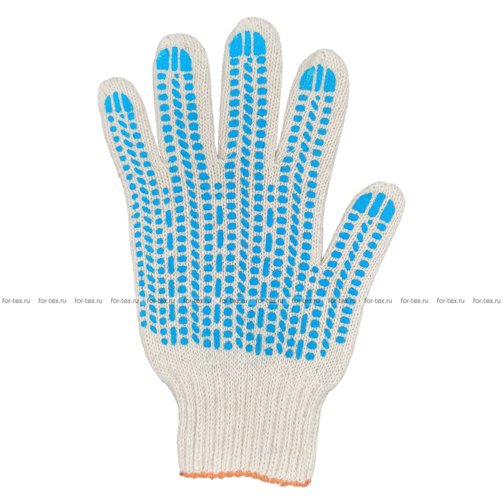 Перчатки ХБ 7,5 класса 7 нитка с ПВХ (протектор) фото