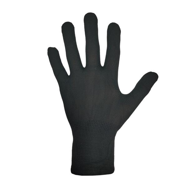 Перчатки нейлоновые без покрытия Черные фото