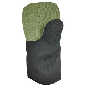 Рукавицы утепленные из гладкокрашеной ткани с брезентовым наладонником