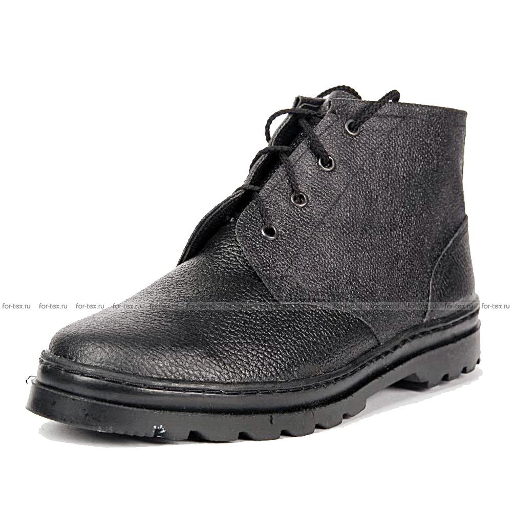 Ботинки рабочие простые (юфть/кирза) фото