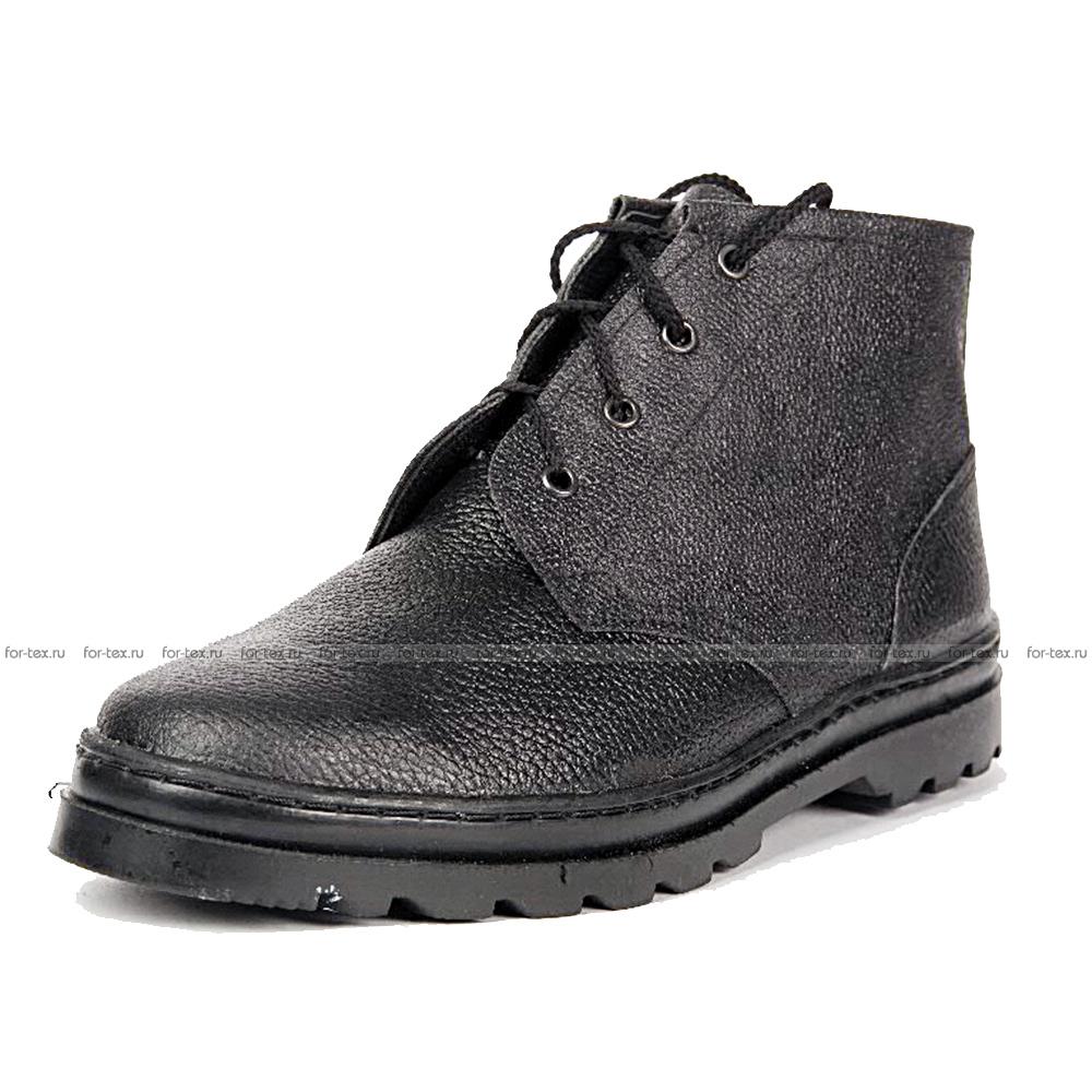 Ботинки рабочие простые (юфть) фото