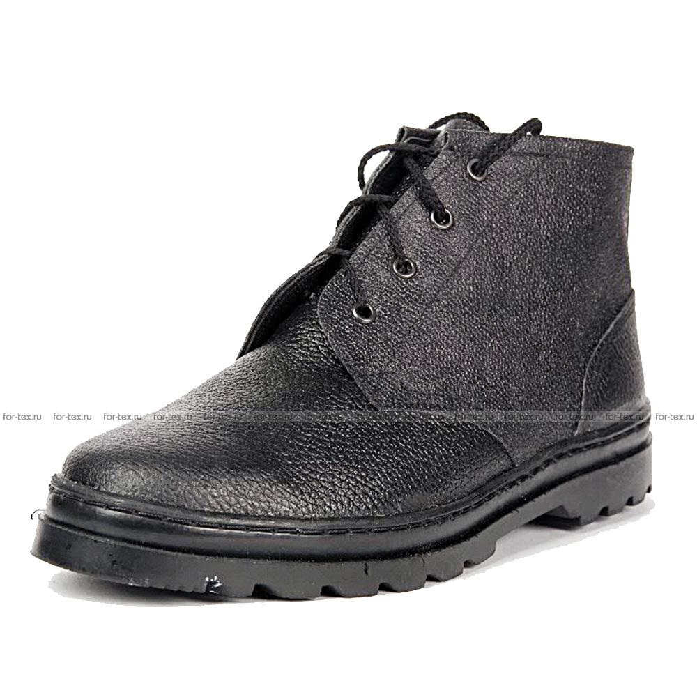 Ботинки рабочие, хром, высота 14 см (кожа «Тулип») фото