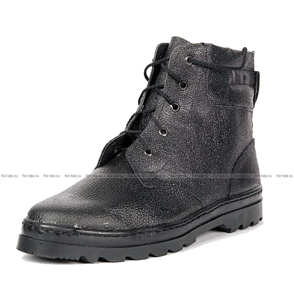 Ботинки «ПИЛОТ» юфть/кирза, высота 18 см  фото