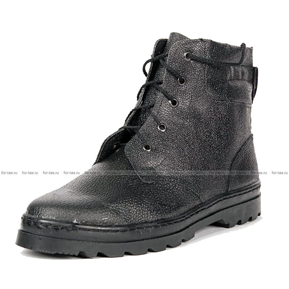 Ботинки «ПИЛОТ» юфть, высота 18 см фото