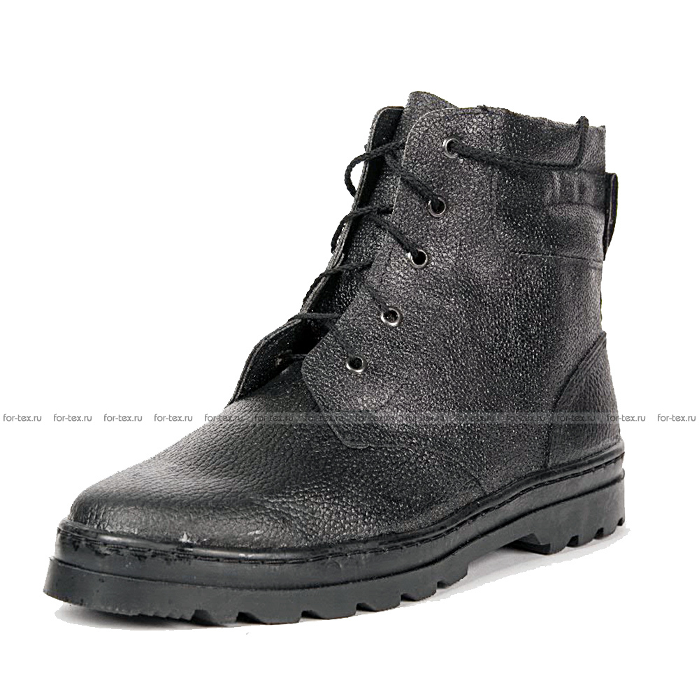 Ботинки «ПИЛОТ» хром, высота 18 см (кожа «Тулип») фото