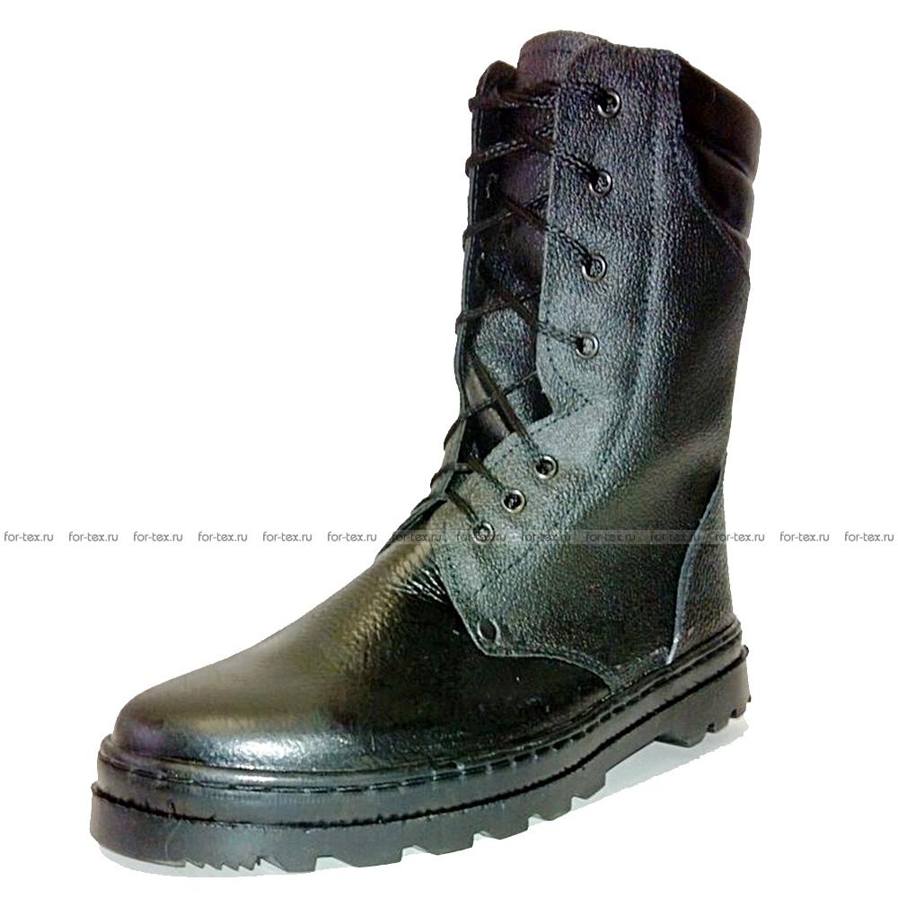 Ботинки «БЕРЦЫ» хром, высота 25 см (кожа «Тулип»)  фото