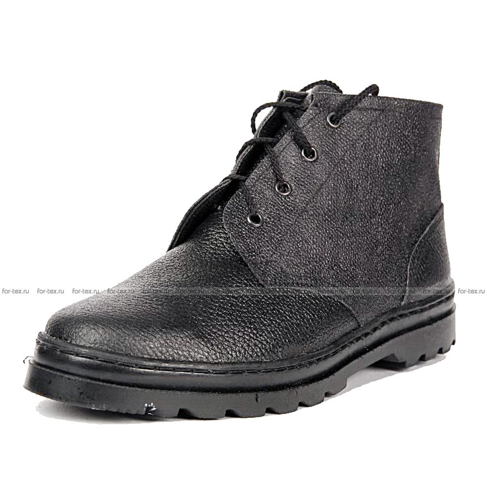 Ботинки рабочие простые (юфть/кирза) утепленные фото
