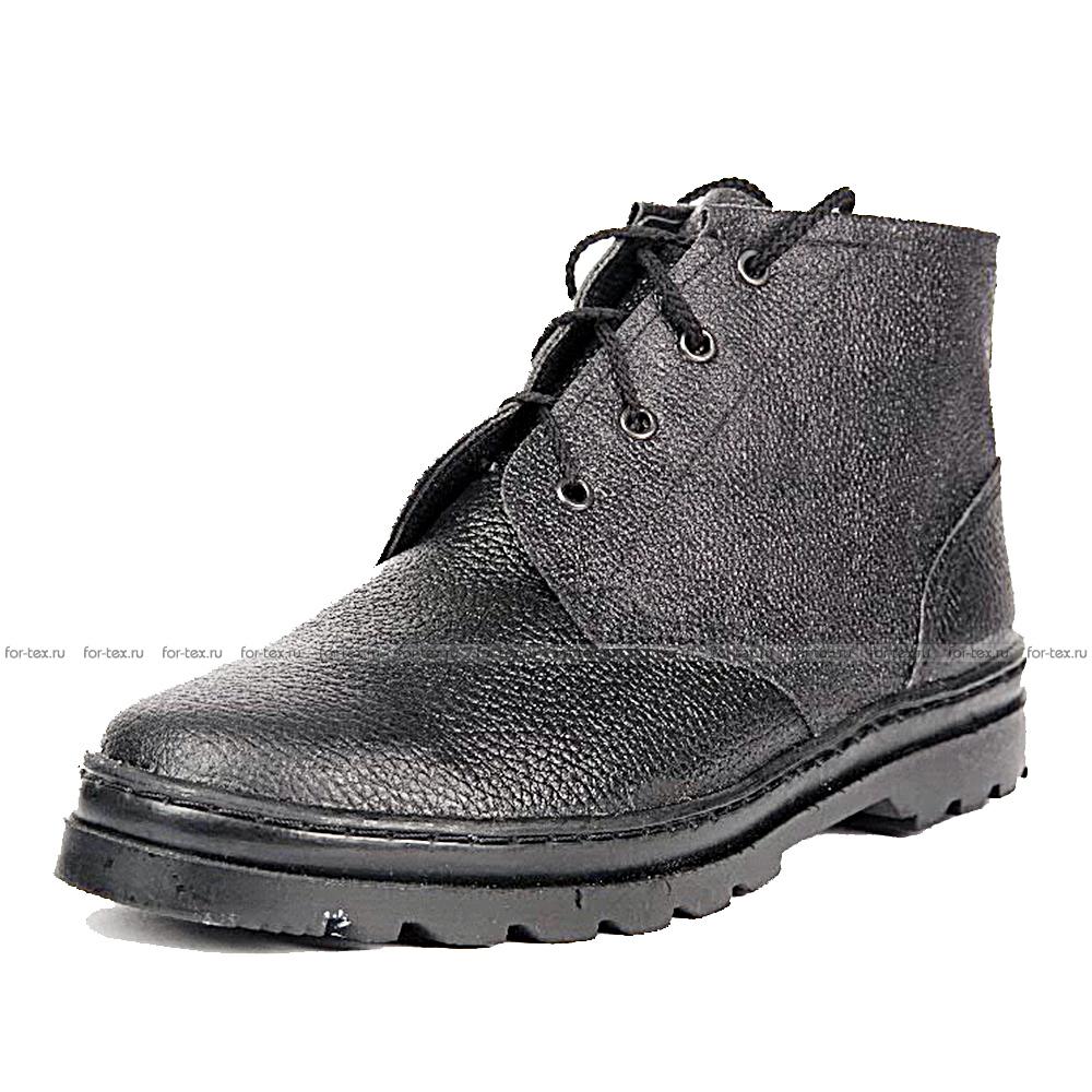 Ботинки рабочие простые (хром) утепленные фото
