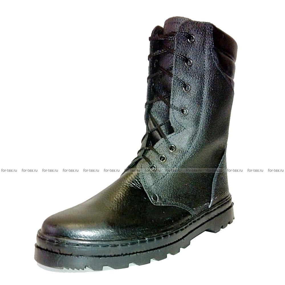 Ботинки «БЕРЦЫ» юфть/кирза, ИМ, высота 25 см (кожа «Тулип») фото