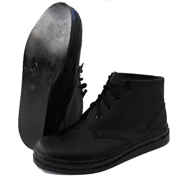 Ботинки рабочие простые для асфальтоукладчика (юфть/кирза) фото