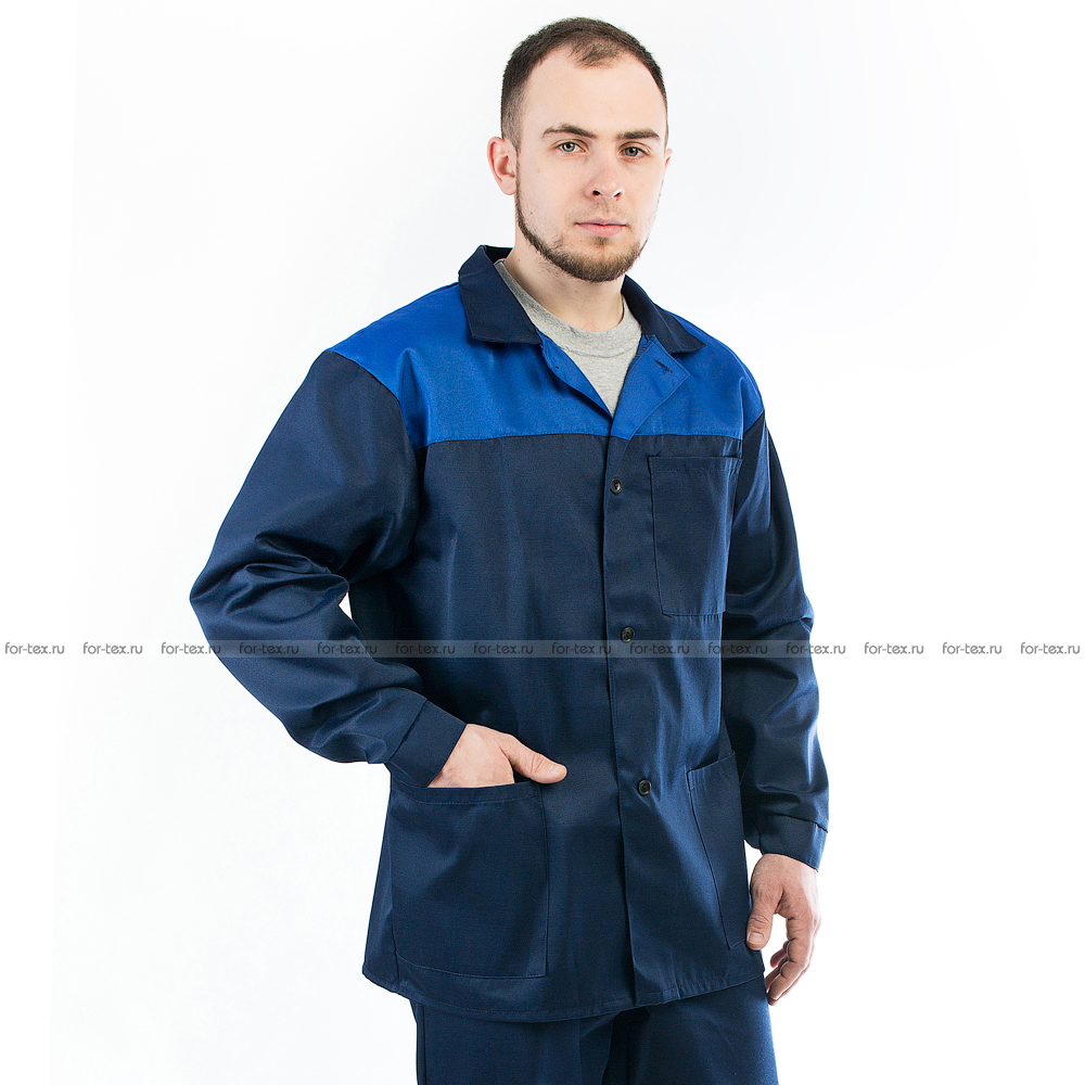 Костюм рабочий-1 (синий/василек) фото